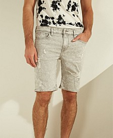 Acid Washed Slim Denim Shorts