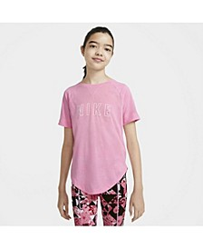 Dry-Fit Trophy Big Girl's Graphic Short-Sleeve Training Top