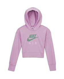Air Big Girl's Cropped French Terry Hoodie