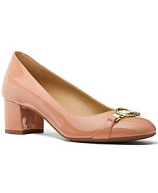 Hattie Logo Block Heel Pumps