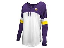 Minnesota Vikings Women's Lace Up Long Sleeve T-Shirt