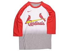 Youth St. Louis Cardinals 3/4-Sleeve Raglan T-Shirt
