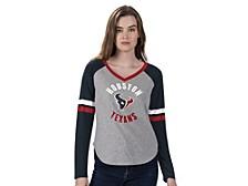 Women's Houston Texans Asterisk Long-Sleeve T-Shirt