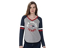 Women's New England Patriots Asterisk Long-Sleeve T-Shirt