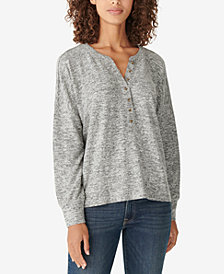 Lucky Brand Hacci Henley Top