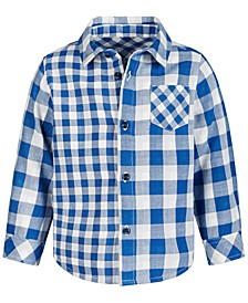 Baby Boys Double-Faced Plaid Cotton Shirt, Created for Macy's