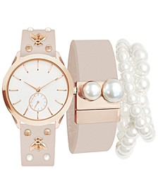 Women's Blush Strap Watch 36mm Gift Set