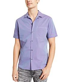 INC Men's Poplin Camp Shirt, Created for Macy's