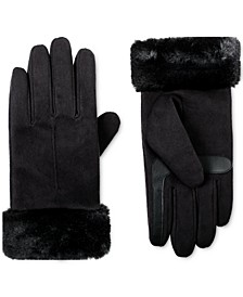 Women's smartDRI® Microsuede Touchscreen Gloves With Faux-Fur Cuffs