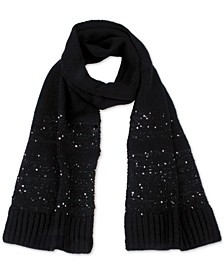 Sequin Striped Muffler Scarf