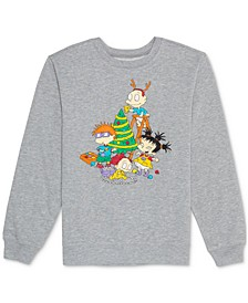 Juniors' Rugrats Holiday Graphic Sweatshirt