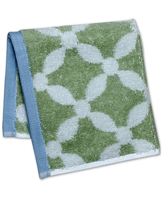 "Martha Stewart Collection Dot Lattice 13"" x 13"" Wash Towel, Created for Macy's"