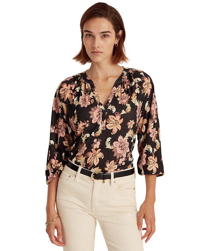 Lauren Ralph Lauren Linen Jersey Top