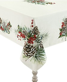 "Winter Garland Tablecloth - 70""x 144"""