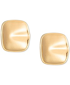 Gold-Tone Wavy Square Stud Earrings, Created for Macy's