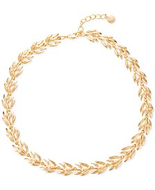 "Gold-Tone Leaf All-Around Necklace, 17"" + 2"" extender, Created for Macy's"