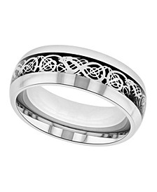 Men's Filigree Stainless Steel Wedding Band