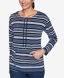 Plus Sizes Women's Pebbled Stripe Pullover