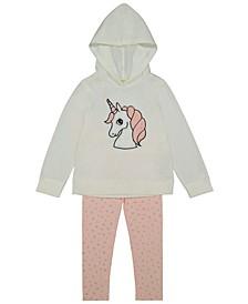 Brushed Fleece Hoodie with Plush Unicorn and Legging Set