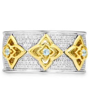 Diamond Aladdin Two-Tone Statement Ring (1/5 ct. t.w.) in Sterling Silver & 10k Gold