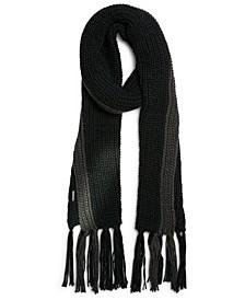 Men's Colorblocked Knit Tassel Scarf