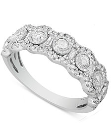 Diamond Bezel Band (1 ct. t.w.) in 10k White Gold