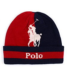 Men's Polo Player Beanie Hat