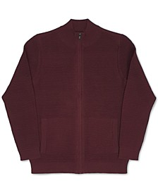 Men's Tonal Ottoman Textured Cardigan, Created for Macy's