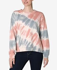 Juniors' Tie-Dyed Sweatshirt