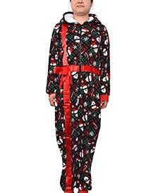 Trendy Plus Size One-Piece Holiday Pajamas