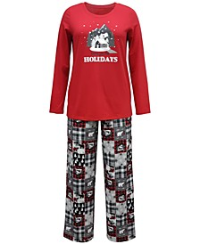 Matching Women's Cabin Patchwork Family Pajama Set, Created for Macy's