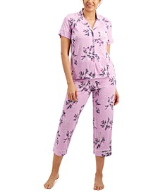 Short Sleeve Top & Capri Pants Pajama Set, Created for Macy's