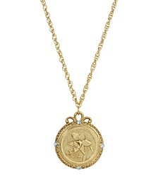 Women's Gold Tone March Flower of the Month Jonquil Necklace