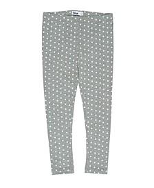 Little Girls All Over Polka Dot Print Basic Knit Legging