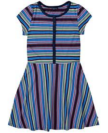 Big Girl Yarn Dye Stripe Rib Dress