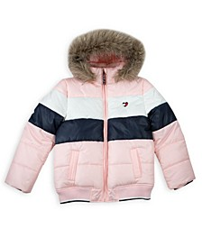 Little Girls Colorblock Puffer Jacket