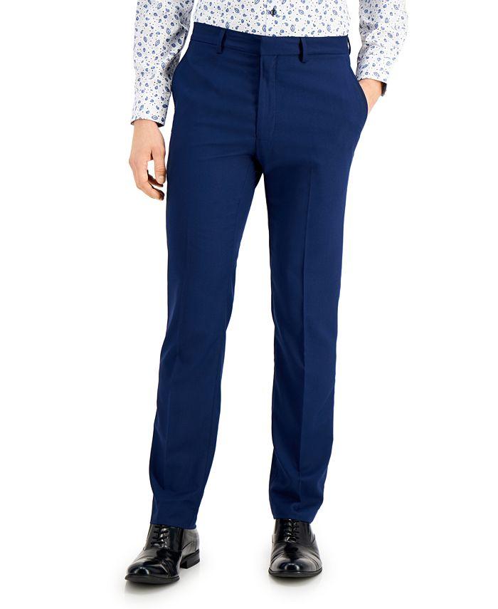 Kenneth Cole Reaction - Men's Techni-Cole Blue Suit Separate Slim-Fit Pants