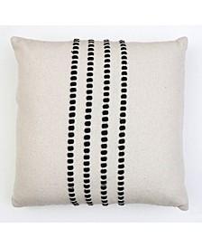 """Wanda Yarn Stitch Woven Pillow, 20"""" x 20"""""""