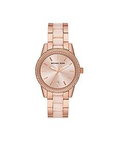 Women's Ritz Three-Hand Two-Tone Stainless Steel Bracelet Watch 37mm