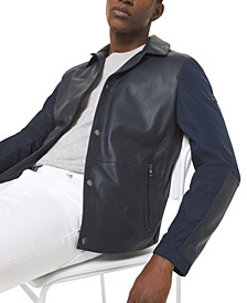 Men's Leather Coach Jacket