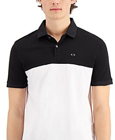 Men's Two Tone Logo Polo Shirt