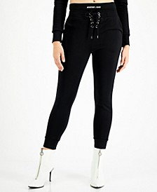 Samantha Lace-Up Skinny Jogger Pants