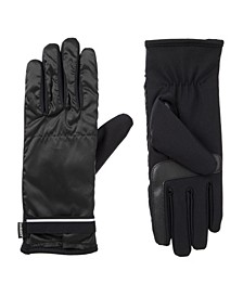 Women's Lined Water Repellent Iridescent Pocket Touch Screen Gloves