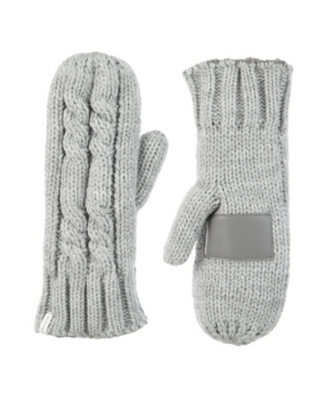 Women's Lined Chunky Cable Knit Mittens Gloves