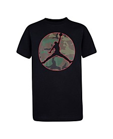 Big Boys Camo Jumpman Logo T-shirt