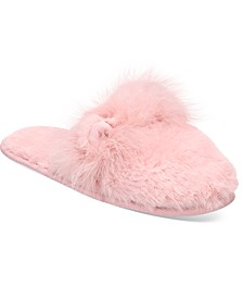 Critter-Ear Faux-Fur Scuff Slippers, Created for Macy's