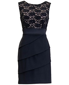 Plus Size Lace Combo Sheath Dress
