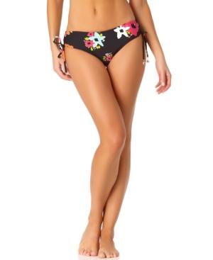 Island Bloom Side Tie Bikini Bottoms Women's Swimsuit