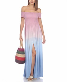 Tie-Dye Maxi Dress Cover-Up