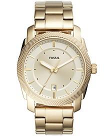 Men's Machine Gold-Tone Stainless Steel Bracelet Watch 42mm
